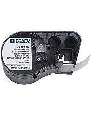 "Brady - 143251 MC-750-427 Vinyl B-427 Black on White/Clear Label Maker Cartridge, 3/8"" Width x 3/4"" Height, for BMP51/BMP53 Printers"