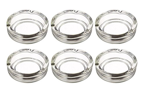 Executive Ash Desk (Anchor Hocking Executive Round Glass Cigarette Ashtray, Set of 6)