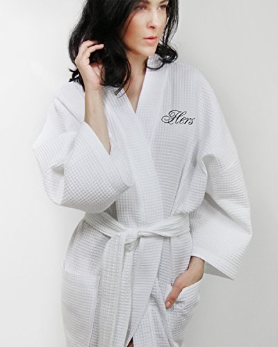 Luxor Linens Egyptian Cotton Hers Waffle Weave Robe - Perfec
