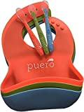 Silicone Baby Bibs with Baby Spoons - 3 Pack, Easy