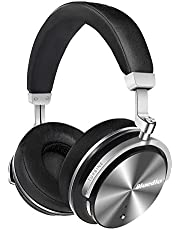 Bluedio T4 (Turbine) Active Noise Cancelling Bluetooth Headphones with Mic Over-Ear Swiveling Wired and Wireless Headphones Headset for Cell Phone/PC bass Fashion (White)
