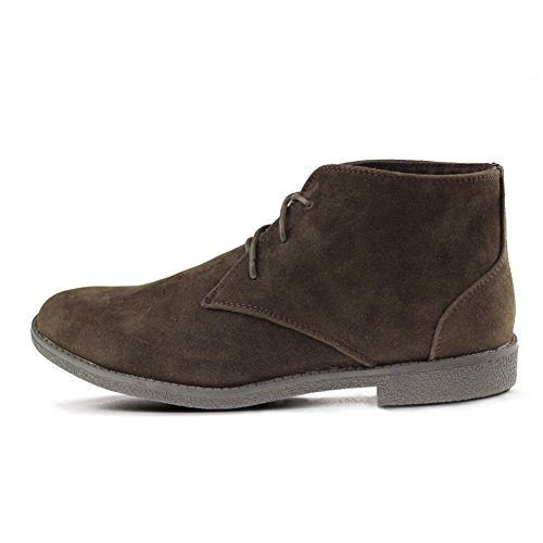 Hawkwell Mens High-Top Modern Fashion Sneaker Brown-2 NLFFDUN