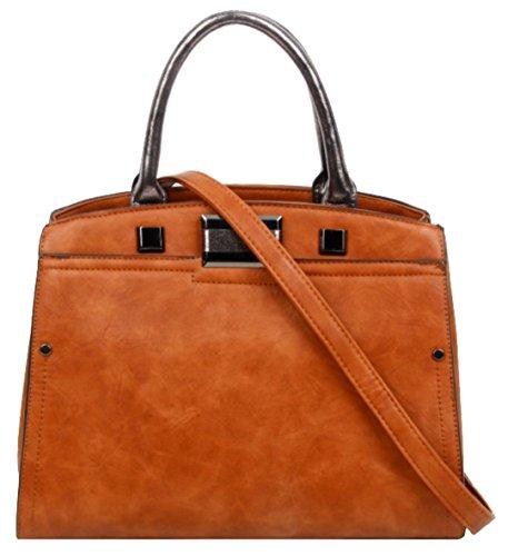 Bolso Asas Handbags Girly Marrón Para Material De Sintético Mujer PAqaaw5gx