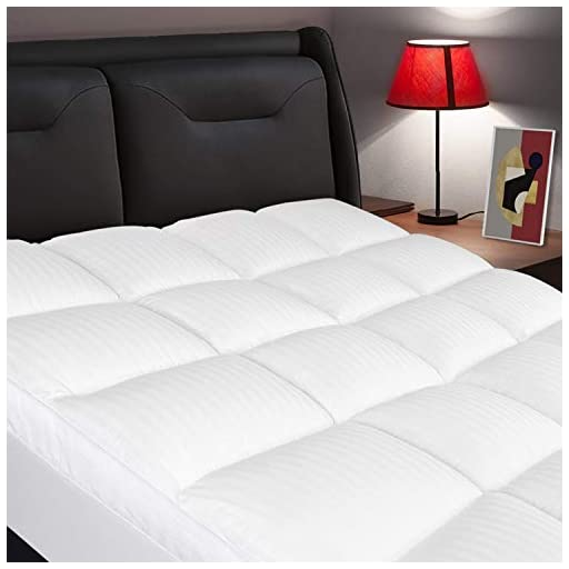ELEMUSE-Queen-Mattress-Topper-Extra-Thick-Mattress-Pad-Cover-Plush-Quilted-Pillowtop-with-8-21-Inch-Deep-Pocket-Soft-Hypoallergenic-Down-Alternative-Fill