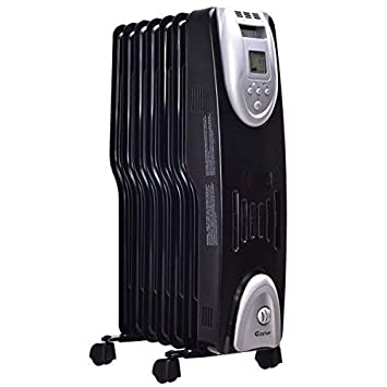 279eb9b0a46 Costway Oil Filled Radiator Heater Portable Electric Home Room Heat  Adjustable Thermostat 1500w (24.5""