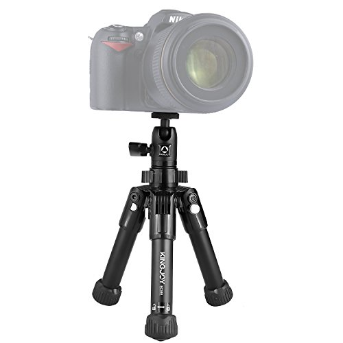 Mini Folding Tabletop Tripod, Kamisafe SC051 Portable Aluminum Desktop Travel Tripod with Swivel Ball Head, Max. Load up to 2kg/4.4lbs Compatible with Canon Nikon DSLR Mirrorless Cameras by Kamisafe