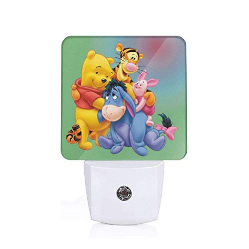 (Meirdre Plug in Night Light - Winnie The Pooh and Friends Warm White LED Nightlight with Automatic Dusk-to-Dawn Sensor)