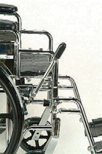 Wheelchair - Brake Extension lengthens brake handle 8''. Designed to fit Standard and Lightweight Wheelchairs