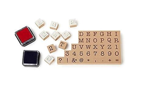 NPW W7084 - Set Máquina De Escribir Con Sellos Y Tinta: Amazon.es: Juguetes y juegos