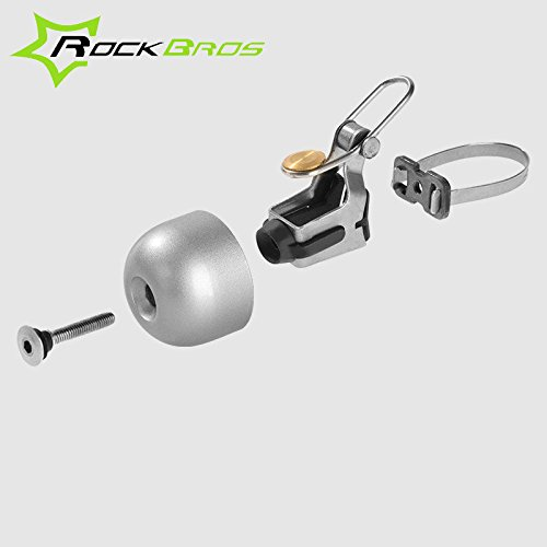ROCKBROS Vintage Bicycle Bell Stainless Bell Bike Cycling Horns Handlebar Bell ( Black ) by Freelance Shop SportingGoods (Image #1)