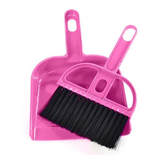 Elevin(TM)  Mini Desktop Sweep Cleaning Brush Small Broom Dustpan Set Green
