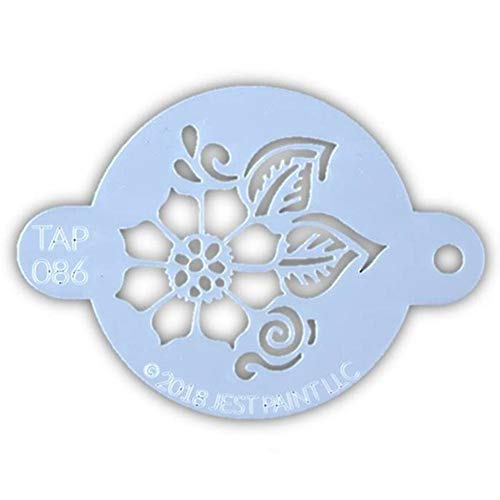 TAP 086 Face Painting Stencil - Henna Full Flower with Leaves ()