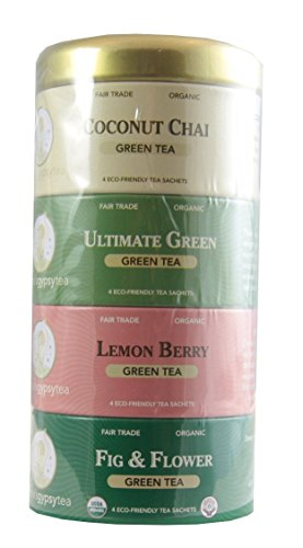 Zhenas Tea - Green Tea Sampler - 16 Tea Sachets
