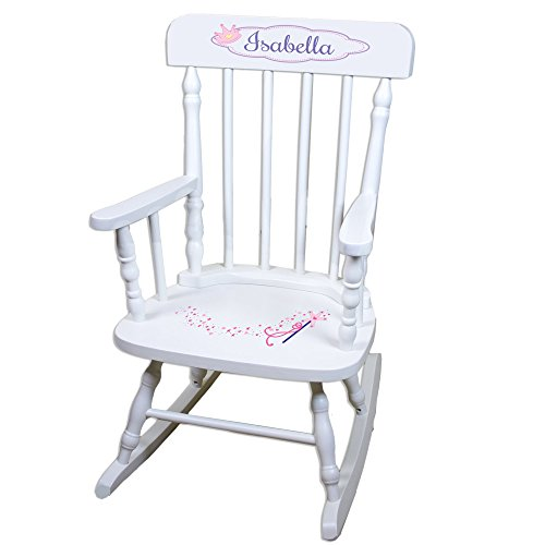 Personalized Fairy Princess White Childrens Rocking Chair ()