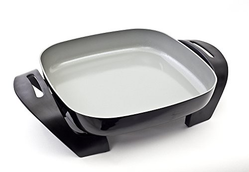 BELLA 14533 Ceramic Cool-Touch Electric Skillet, 12'', Black/Grey by BELLA (Image #1)