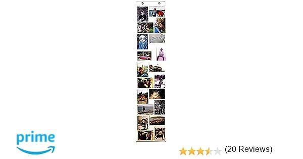 CORTINA PLÁSTICO TRANSPARENTE CON MARCOS DE FOTOS PARA 20 FOTOS - Tinas Collection