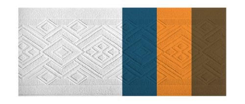 Paintable Wallpaper Borders (York Wallcoverings Patent Décor PT1852B Side Diamond Paintable Border, White)