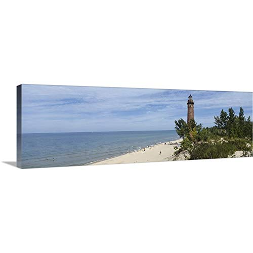 - CANVAS ON DEMAND Lighthouse at The Lakeside, Little Sable Point Lighthouse, Silver Lake Sand Dunes Area, Lake Mic.