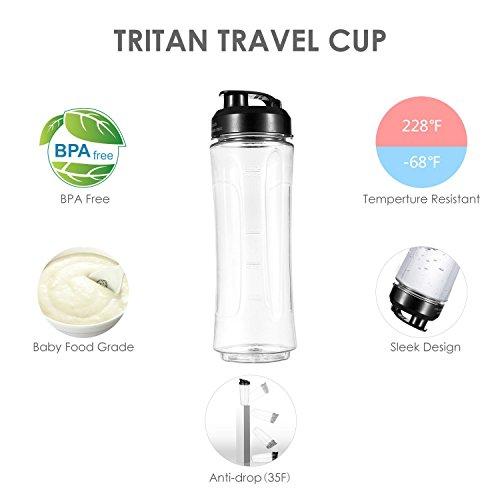 -[ Aicok Personal Blender with Portable Bottle Mini Smoothie & Milk-shake Maker 600ml Tritan BP