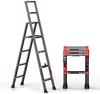 Qi Tai Escalera telescópica de Aluminio Escalera Extensible Plegable portátil de Bricolaje Escalera Extensible for Trabajos de Constructor de Interior al Aire Libre Uso Escalera telescópica: Amazon.es: Hogar