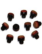 10 Stück Schraubleder 12 mm mit M8 Kunststoff-Gewinde
