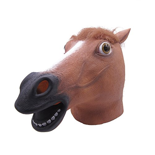LUBBER Horse Head Latex Toy Animal Head Mask(Brown) (Creepy Mask For Sale)