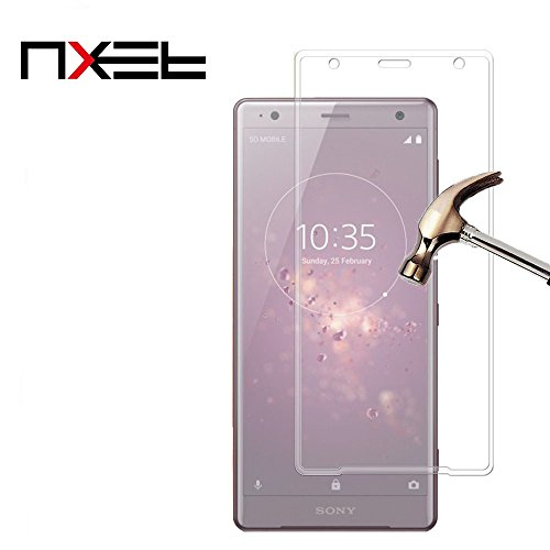 Sony Xperia XZ2 Screen Protector, NXET 9H 3D Full Coverage Tempered Glass 0.3MM Slim & 9H Hardness Screen Glass [Anti-Scratch] [Bubble Free] Extreme Hardness for Sony Xperia XZ2 (Clear)