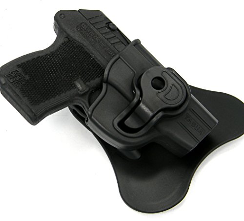 TAGUA Right Hand OWB Rotating Push Button KYDEX Paddle Holster for Ruger LCP 380 and KEL-TEC P3AT 380