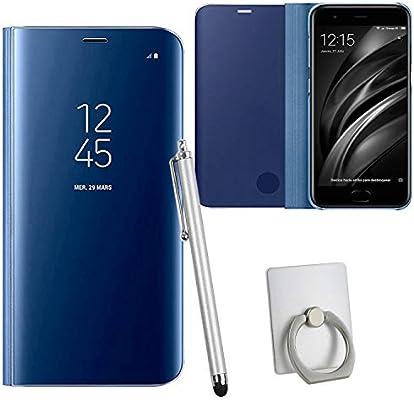 Guran® Mirror Efecto Espejo Funda para Xiaomi Mi6 Clear View ...