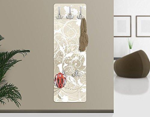 Appendiabiti da parete, 139 x 46 x 2 cm, appendiabiti per cappotti, fissaggio a parete, motivo dal design ornamentale Apalis 67545