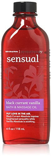 Bath and Body Works Aromatherapy Sensual Black Currant Vanilla Bath & Massage Oil 4 (Lavender Vanilla Massage Oil)
