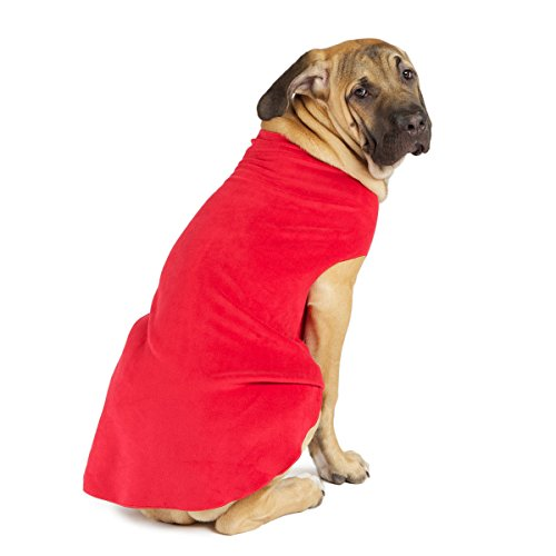 Gold Paw Series Gold Paw Fleece, Size 10, Red For Sale