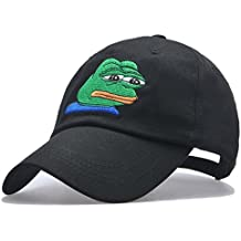 Tea.almonds Pepe Sad Frog Cap Hat Embroidered Adjustable Snapback Hat Baseball Cap Unisex