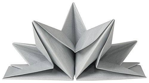 Now Designs Origami Paper Napkins, Silver