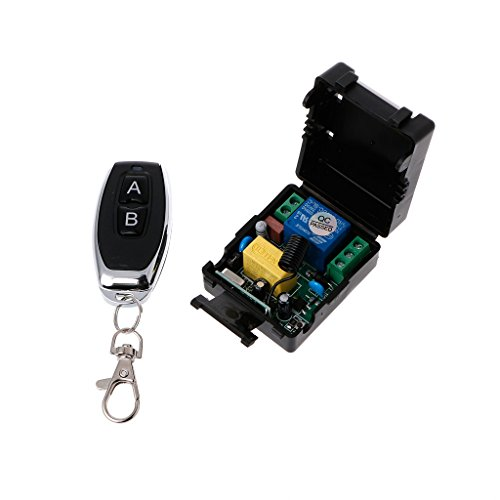 HOWWOH AC 220V 10A 1CH RF 433MHz Wireless Remote Control Switch Receiver + Transmitter Kit - G3 Transmitter Controls
