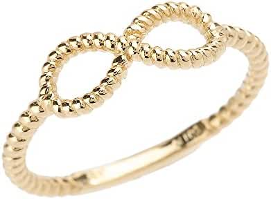 10k Gold Twisted Rope Band Infinity Ring (1.4 mm band width)