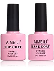 AIMEILI Soak Off UV LED Gel Nail Polish - Base and No...