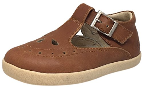 - Old Soles Girl's Tea Shoe Leather T Strap Buckle Mary Jane Shoe (28 M EU/11 M US Little Kid, Tan)