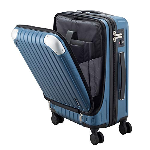 LEVEL8 Luggage Hardside Suitcase PC+ABS Spinner Built-in TSA Lock, Carry on 20