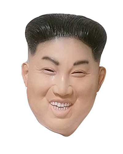 Laughing Kim Jong Un Mask by Rubber Johnnies , Korean Ruler , Rocketman, One - Kim Costume