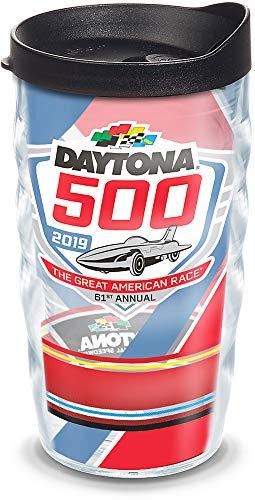 Tervis 1314823 NASCAR Daytona 500 Stripes Insulated Tumbler with Wrap Lid, 10 oz, Clear