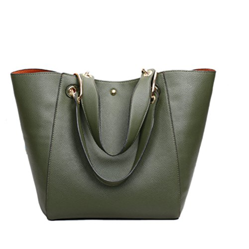 Fashion Bag Bag Storage Handbags Leather Shoulder Bags Chain Shoulder Hobos Pu Green Bag Strap Metallic Women's RA1wx