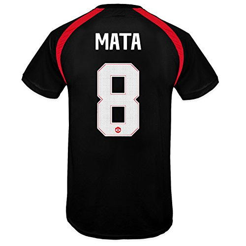 Manchester United FC Boys Mata 8 Poly Training Kit T-Shirt Black 10-11 Years Manchester United Christmas