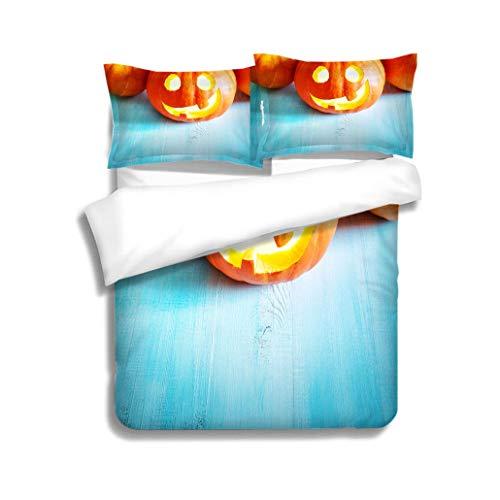 MTSJTliangwan Duvet Cover Set Pumpkins for Halloween with
