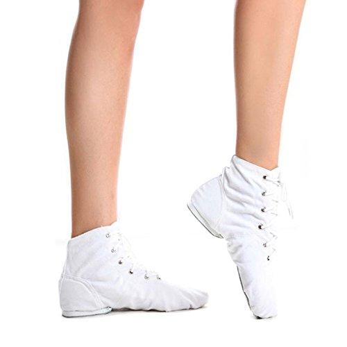 Men Women UNISEX Modern CANVAS Jazz Ballet Dance Shoes Split Heels Sole Shoes
