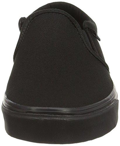 Vans - Asher, Zapatillas Hombre, Negro (canvas Black Black), 48 EU Negro (canvas Black Black)