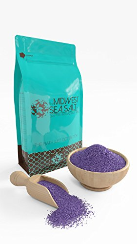 Bath Lavender Salt (Lavender Dreams Mediterranean Sea Bath Salt Soak - 5lb (Bulk) - Fine Grain)