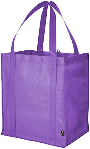 eBuyGB Reusable Non Woven Grocery Tote Canvas Shopping Bag with Reinforced Base