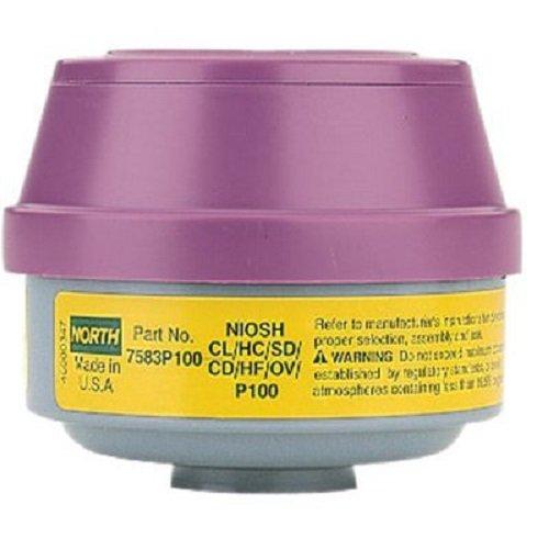 North 7583P100 Combination Filter P100/Organic Vapor/Acid Sas