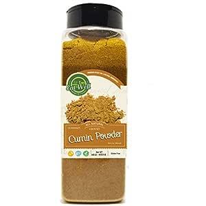 Ground Cumin Powder | 16 oz - 453 g Reseable Bag, Bulk | Gluten Free | Ground Cumin | Extra Grade Cumin Seasoning | Middle Eastern Spices | by Eat Well Premium Foods